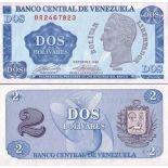 Los billetes de banco Venezuela Pick número 69 - 2 Bolivar
