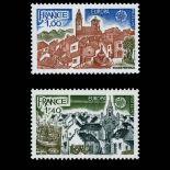 Serie francobolli di Francia N ° 1928/29 Nuevo non linguellato