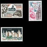 Serie francobolli di Francia N ° 1947/1949 Nuevo non linguellato