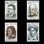 Serie francobolli di Francia N ° 1953/56 Nuevo non linguellato