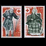 Serie francobolli di Francia N ° 1959/60 Nuevo non linguellato