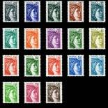 Stamps series of France N° 1962/79 Mint NH