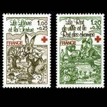 Briefmarken Reihe von France N ° 2024/25 Postfrisch