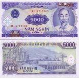 Billet de banque Vietnam Nord Pk N° 108 - 5000 Dong