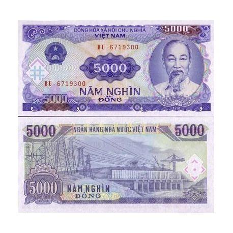 North Vietnam - Pk # 108 - ticket 5000 Dong