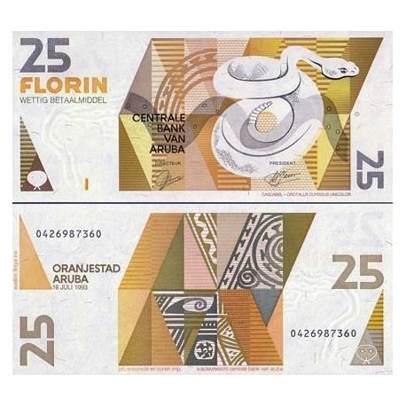 Billets banque Aruba Pk N° 12 - 25 Florin