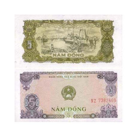 Vietnam Nord - Pk N° 81 - Billet de 5 Dong