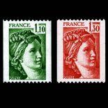 Briefmarken Reihe von France N ° 2062/2063 Postfrisch