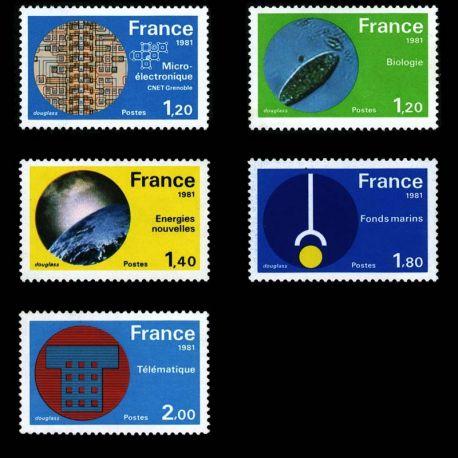 Timbres France Série N° 2126/30 neuf sans charnière