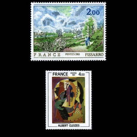Timbres France Série N° 2136/2137 neuf sans charnière