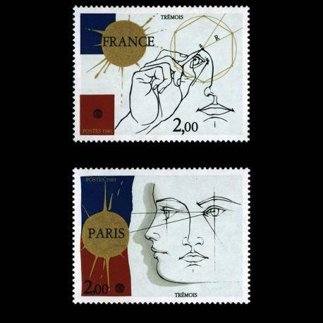 Timbres France Série N° 2141/2142 neuf sans charnière