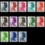Serie francobolli di Francia N ° 2178/90 Nuevo non linguellato