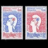 Briefmarken Reihe von France N ° 2216/17 Postfrisch