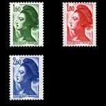 Serie francobolli di Francia N ° 2219/21 Nuevo non linguellato