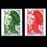 Briefmarken Reihe von France N ° 2222/2223 Postfrisch
