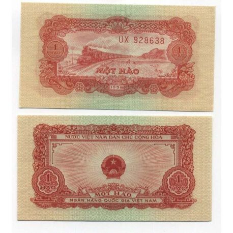 Billet de collection Vietnam Nord Pk N° 68 - 1 Dong