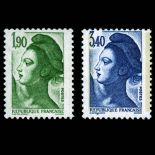 Serie francobolli di Francia N ° 2424/2425 Nuevo non linguellato