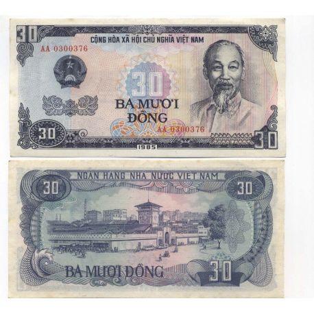 Billets banque Vietnam Nord Pk N° 87 - 30 Dong