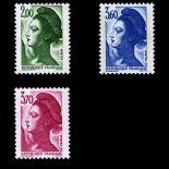 Serie Sellos de Francia N ° 2484/2486 nuevos sin charnela