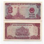 Colección de billetes Vietnam Pick número 89 - 5 Dong