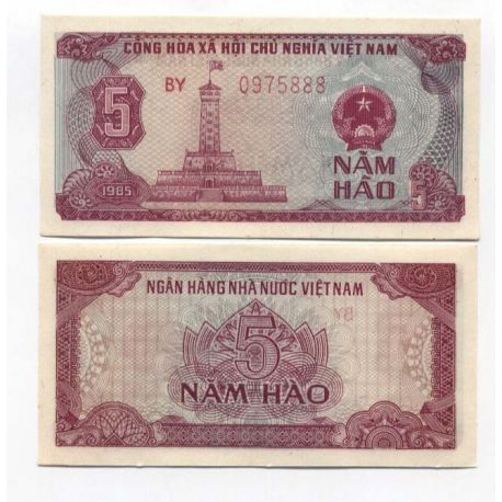 Billets de collection Billets collection Vietnam Nord Pk N° 89 - 5 Dong Billets du Vietnam Nord 7,00 €