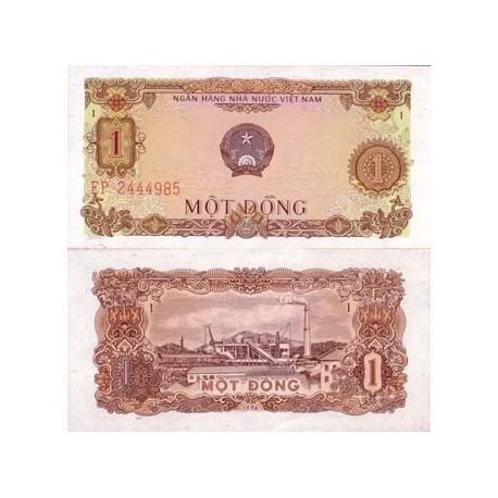 Billet de collection Vietnam Nord Pk N° 80 - 1 Dong