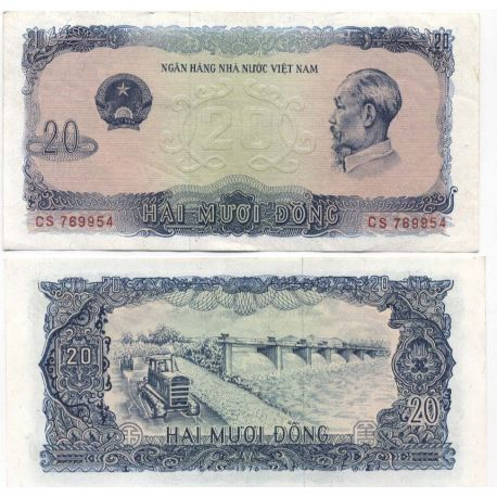Billet de collection Vietnam Nord Pk N° 83 - 20 Dong