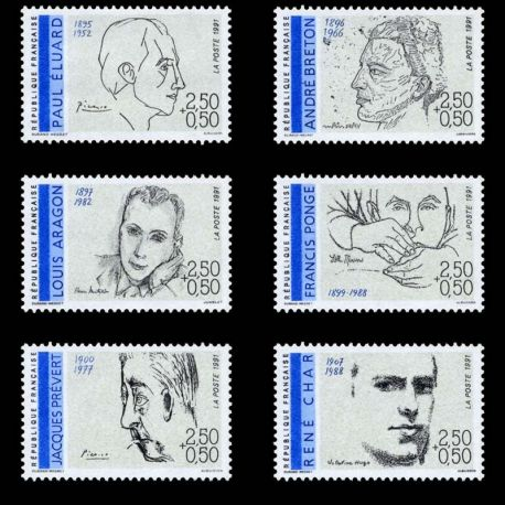 Timbres France Série N° 2681/86 neuf sans charnière