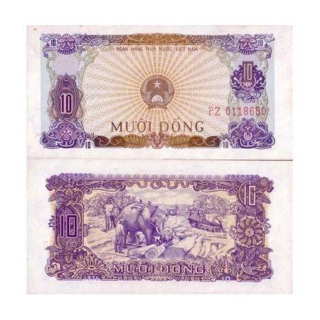 Billets de banque Vietnam Nord Pk N° 82 - 10 Dong