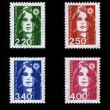 Serie Sellos de Francia N ° 2714/17 nuevos sin charnela