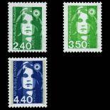Briefmarken Reihe von France N ° 2820/2822 Postfrisch