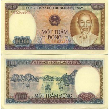 Billets banque Vietnam Nord Pk N° 88 - 100 Dong