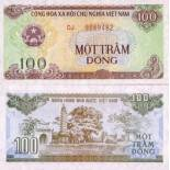 Billet de collection Vietnam Nord Pk N° 105 - 100 Dong