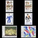 Serie francobolli di Francia N ° 2866/71 Nuevo non linguellato