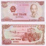Billets de banque Vietnam Nord Pk N° 100 - 200 Dong