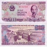 Billets banque Vietnam Nord Pk N° 107 - 2000 Dong