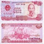 Billet de collection Vietnam Nord Pk N° 101 - 500 Dong