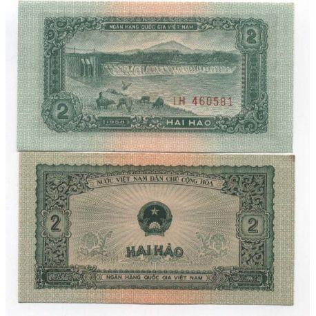 Billet de banque Vietnam Nord Pk N° 69 - 2 Dong