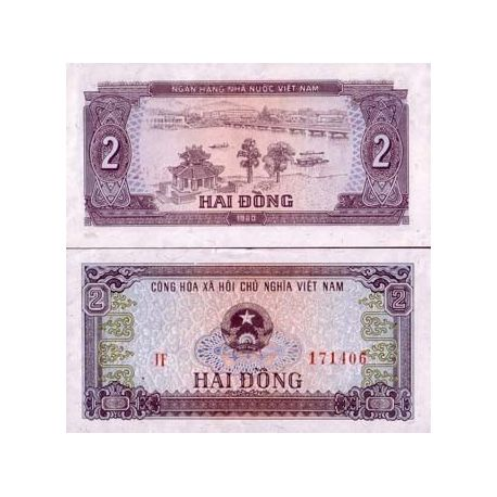 Billets de collection Billet de collection Vietnam Nord Pk N° 85 - 2 Dong Billets du Vietnam Nord 1,00 €