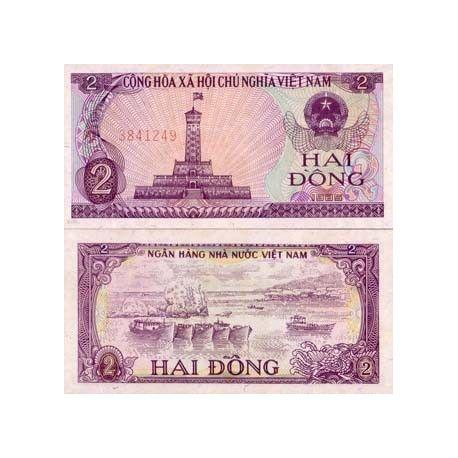 Billets de banque Vietnam Nord Pk N° 91 - 2 Dong