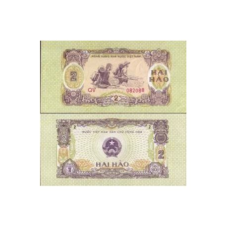 Billets collection Vietnam Nord Pk N° 78 - 2 Hao