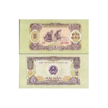 Vietnam Nord - Pk N° 78 - Billet de 2 Hao