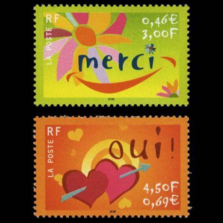 Timbres France Série N° 3379/3380 neuf sans charnière