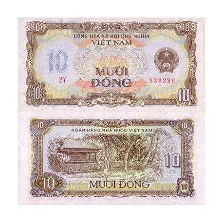 Billets banque Vietnam Nord Pk N° 86 - 10 Dong