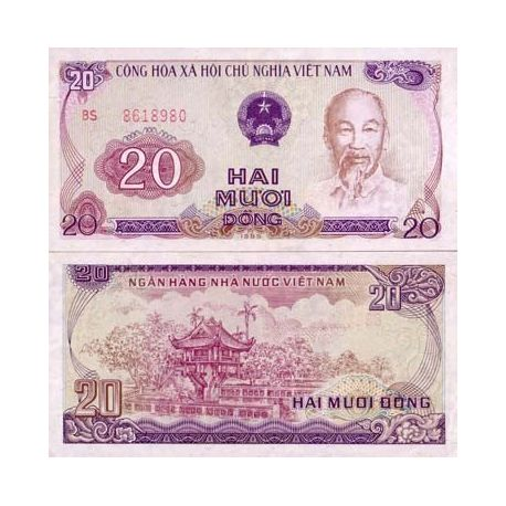 Billet de collection Vietnam Nord Pk N° 94 - 20 Dong