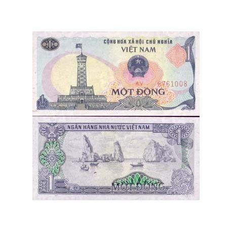 Billets de banque Vietnam Nord Pk N° 90 - 1 Dong