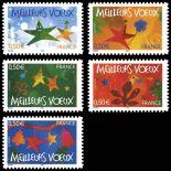 Serie francobolli di Francia N ° 3722/26 Nuevo non linguellato