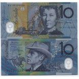 Banknoten Sammlung Australien Pick Nummer 58 - 10 Dollar 2002