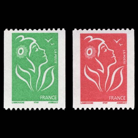 Timbres France Série N° 3742/3743 neuf sans charnière