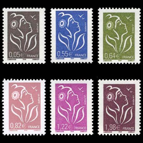 Timbres France Série N° 3754/59 neuf sans charnière